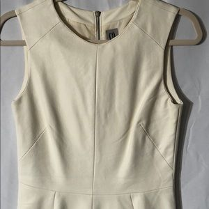 CO Vegan Leather Peplum  White Top